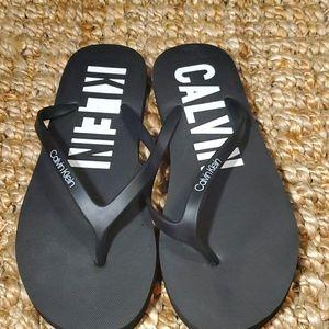 Calvin Klein Women Flip-Flop Sandals, Blk, Sz9